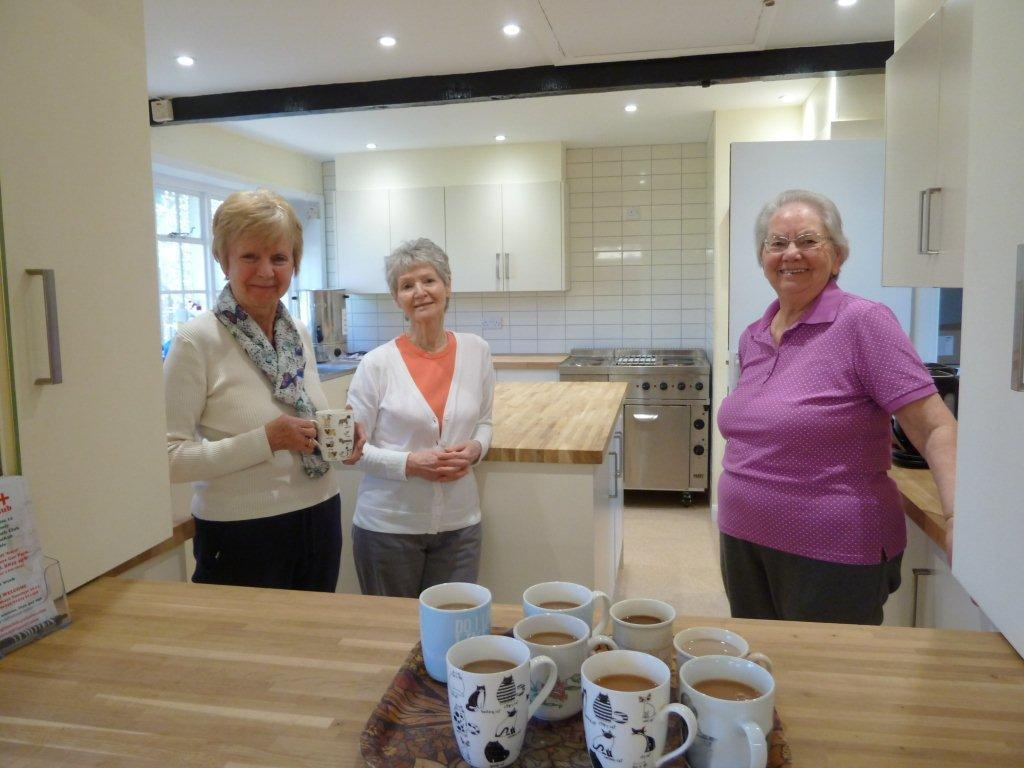 Members are able to make themselves tea and coffee in the newly refurbished kitchen